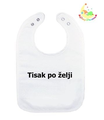 Picture of Baby bib with waterproof lining  - Print as desired