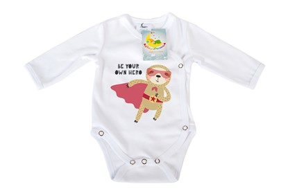 Picture of Side snap baby body - Organic cotton - Your own hero