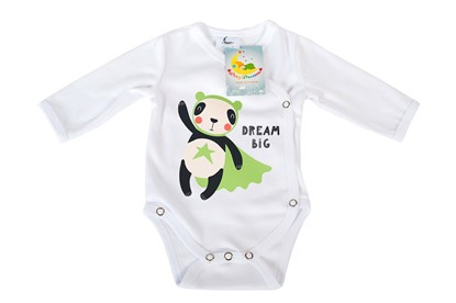 Picture of Side snap baby body - Organic cotton - Dream big