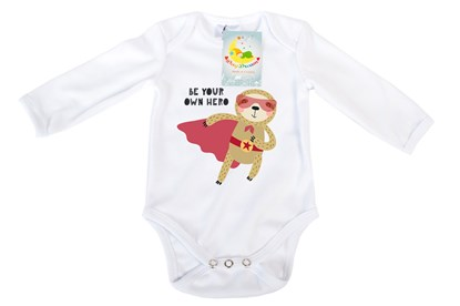 Picture of Baby body long sleeves organic cotton - Your own hero