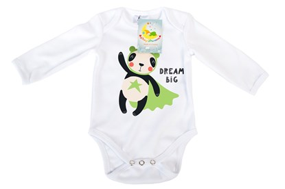 Picture of Baby body long sleeves organic cotton - Dream big