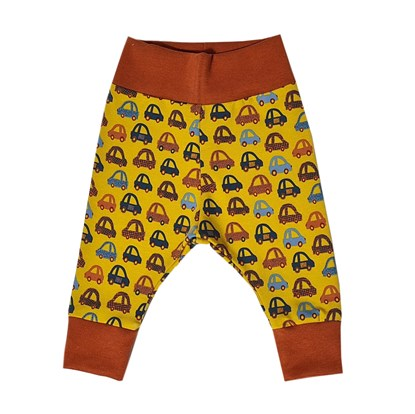 Picture of Pants without feet - Cars - mustard yellow