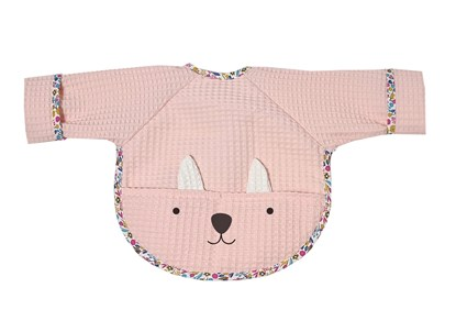 Picture of Baby bib with sleevs - Pink