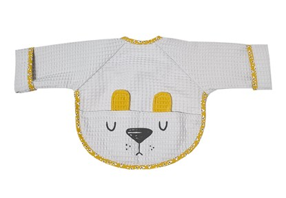 Picture of Baby bib with sleevs - Grey