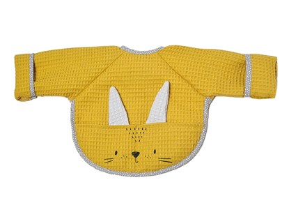 Picture of Baby bib with sleevs - Yellow