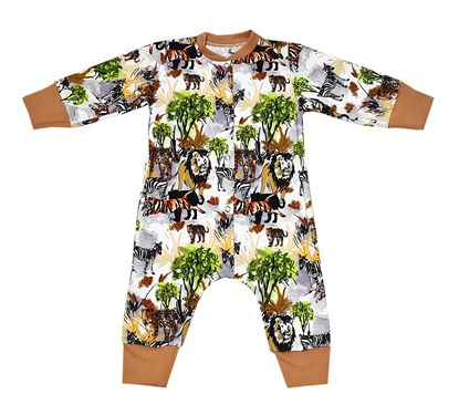 Picture of Romper with long sleeves - Jungle