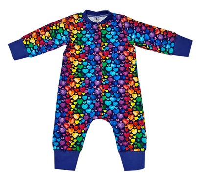 Picture of Romper with long sleeves - Colorful hearts