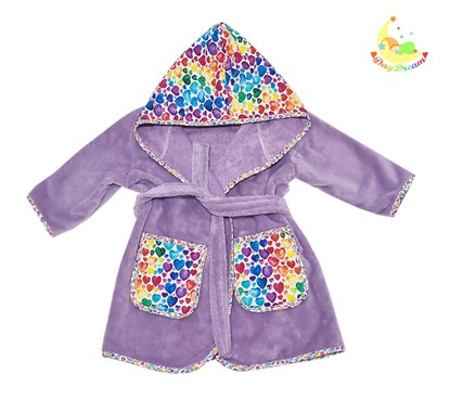 Picture of Baby bathrobe - 98/104 - Lilac