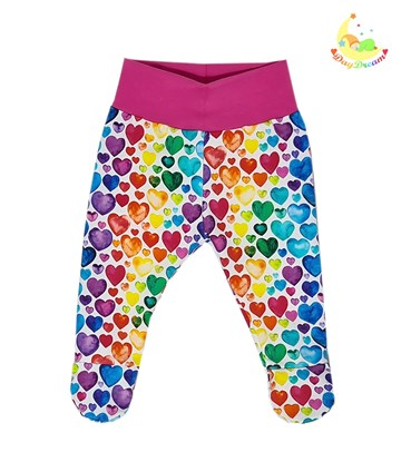 Picture of Pants with feet - Colorful hearts