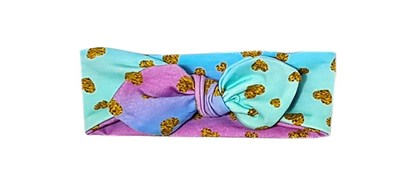 Picture of Hairband with bow - Golden hearts