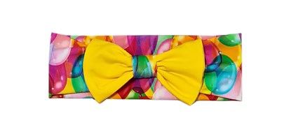 Picture of Hairband with bow - Balloons and yellow bow