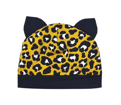 Picture of Beanie with ears - Leopard - yellow
