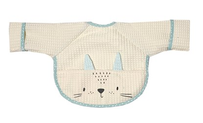 Picture of Baby bib with sleevs - Ivory