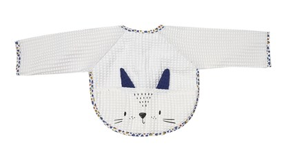 Picture of Baby bib with sleevs - White 2