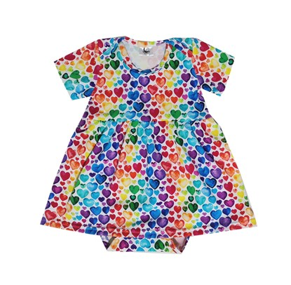 Picture of Baby body dress - Hearts
