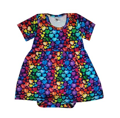 Picture of Baby body dress - Colorful hearts