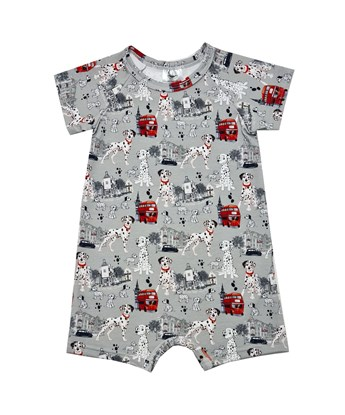 Picture of Romper with short sleeves - Dalmatians - grey