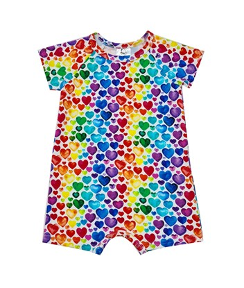Picture of Romper with short sleeves- Hearts