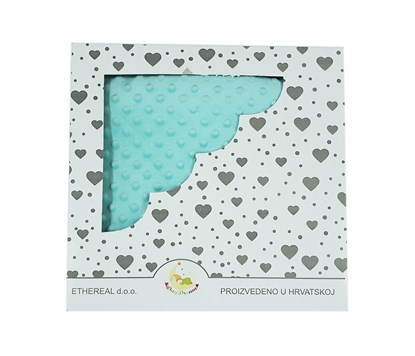 Picture of Personalized minky blanket - Mint green 120x100