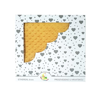 Picture of Personalized minky blanket - Mustard color 120x100