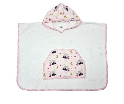 Picture of Bamboo baby poncho - Mice - up to 3 years