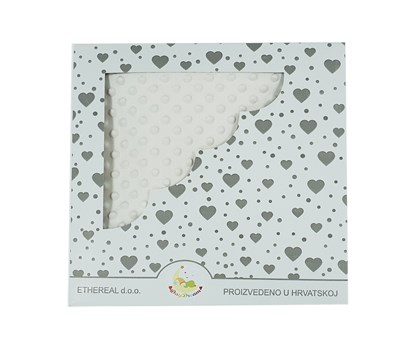 Picture of Personalized minky blanket - Ecru 120x100