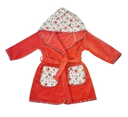 Picture of Baby bathrobe - 110/116 - Flowers