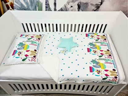 Picture of Cotton set with blanket size 100x80, pillow, cover for pillow and star - Unicorn