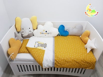 Picture of Premium baby bed bumper - Little elephant