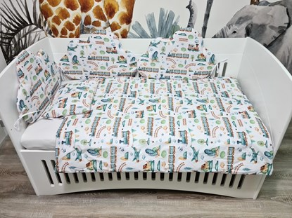Picture of Standard baby bed bumper - Trains