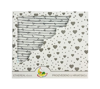 Picture of Cotton blanket 100x80cm - Stripes and anchors
