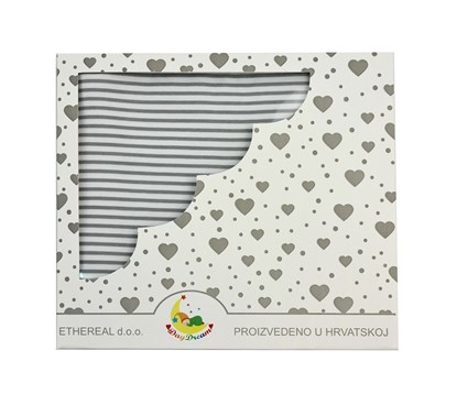 Picture of Cotton blanket 120x100cm - Grey stripes