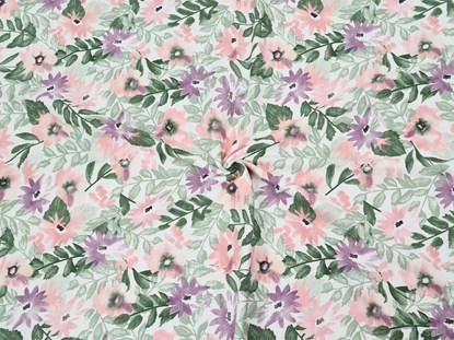 Picture of Cotton blanket 120x100cm - Flowers