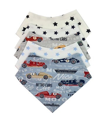 Picture of Baby scarf bib - Set 5 pcs for boys