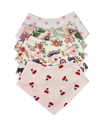 Picture of Baby scarf bib - Set 5 pcs for girls