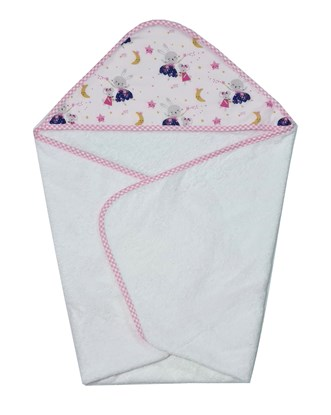 Picture of Cotton hooded towel - 100 x 100 cm - Mice