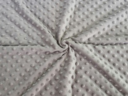 Picture of Personalized minky blanket - Grey 120x100