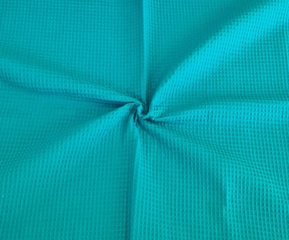 Picture of Waffle blanket 100x80 - Petroleum blue