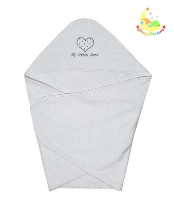 Picture of Premium bamboo hooded towel - My little love 90x90cm