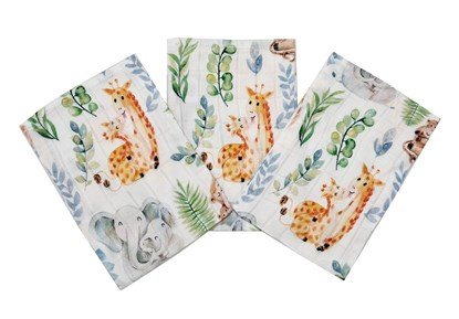 Picture of Bamboo tetra gloves - Elephants and giraffes