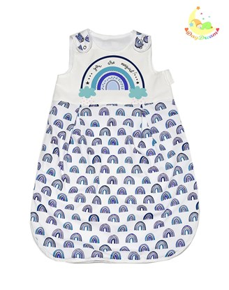 Picture of Winter sleeping bag - Blue rainbow - 6-18 months